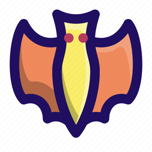 animal, bat, flying, night, vampire icon