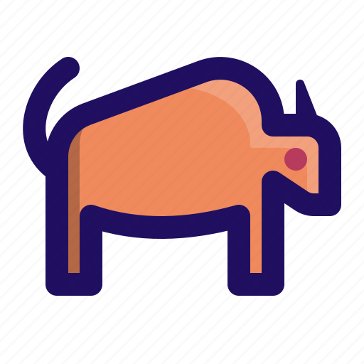 animal, bison, buffalo, horn, wild icon