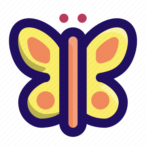 animal, butterfly, garden, insect, moth, spring icon