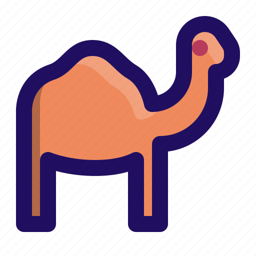 animal, camel, desert, humps icon