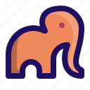 animal, cute, elephant, zoo icon
