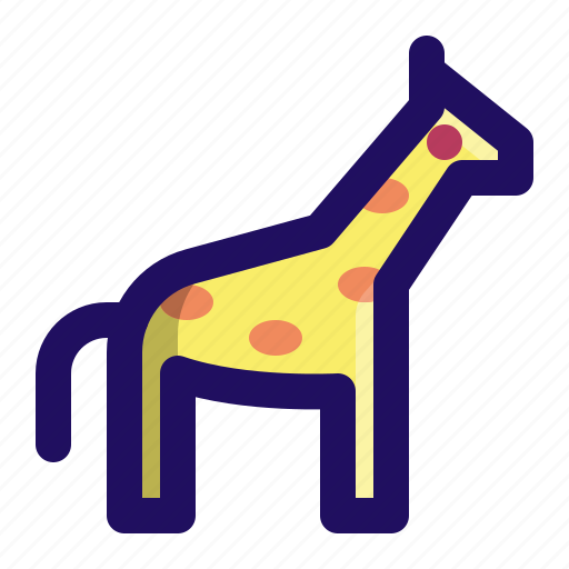 animal, giraffe, safari, wild, zoo icon