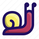 animal, slime, slow, slug, sluggish, snail icon