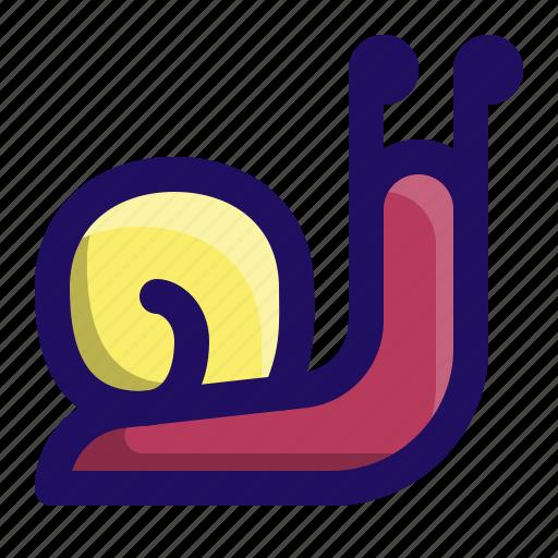 animal, slime, slow, slug, sluggish, snail icon