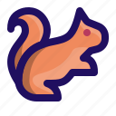 animal, chipmunk, marmot, rodent, squirrel icon
