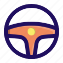 car, direction, racing, steer, turn, vehicle icon