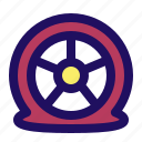 accident, car, puncture, tire, tyre icon