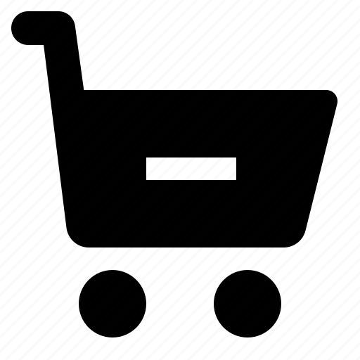 cart, minus, remove, shop, shopping, trolley icon