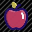 apple, food, fruit, juicy, vegan icon