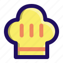 chief, cook, cooking, hat, kitchen icon