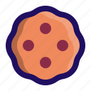 biscuit, cookie, cracker, dessert, snack icon