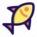 animal, fish, food, sea, seafood, water icon
