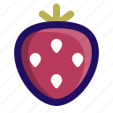 food, fruit, healthy, nutrition, snack, strawberry icon
