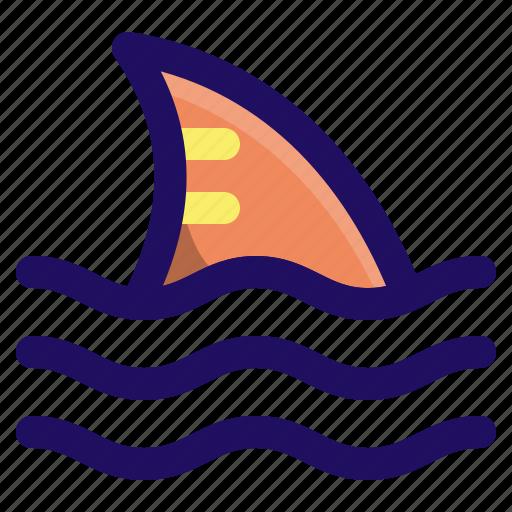 attack, danger, fin, fish, ocean, shark icon