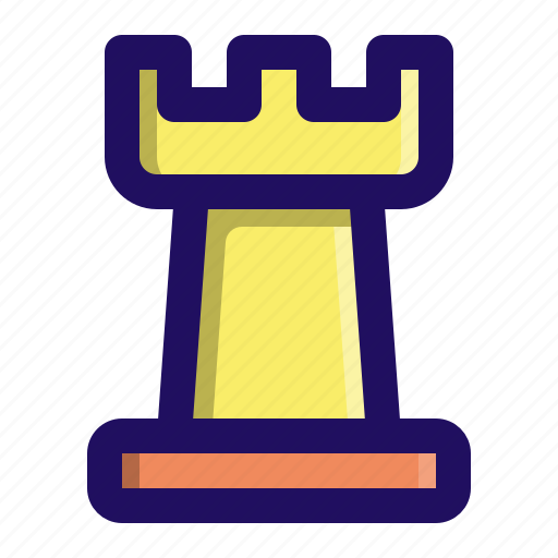 castle, chess, figure, game, piece, rook icon