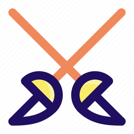 fence, fencing, fight, game, sport, sword icon