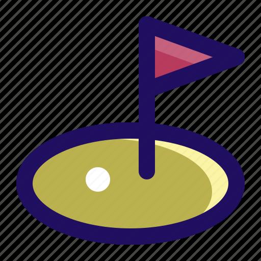 club, course, flag, golf, hole, sport icon