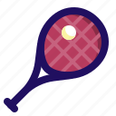 ball, game, racket, racquet, sport, tennis icon