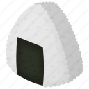 chinese, food, japan, junk food, onigiri, rice, sushi icon