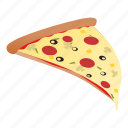 junk food, pizza icon