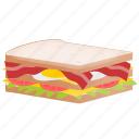 bread, food, junk, sandwich icon