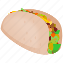 food, mexican, taco icon