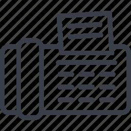 document, jurisprudence, printer, text icon