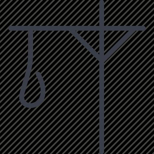 gallows, jurisprudence, punishment, scaffold icon