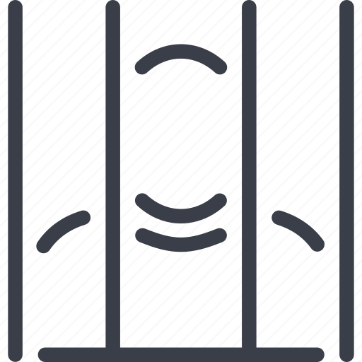a prisoner, isolated, jurisprudence, lattice, law icon