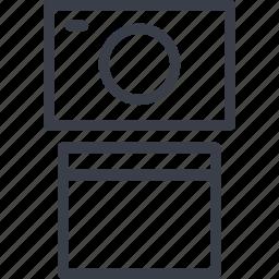a computer, jurisprudence, monitor, record icon