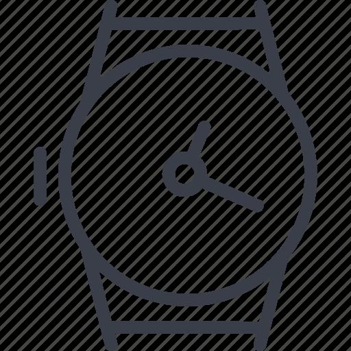 arrow, clock face, horometry, jurisprudence icon