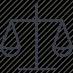 balance, jurisprudence, libra, weighing icon