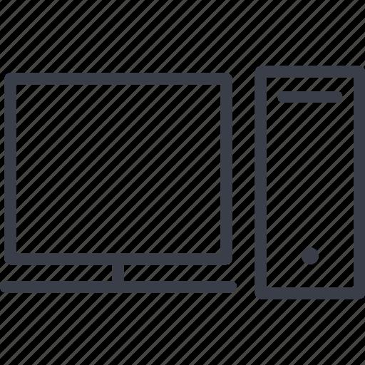 a computer, jurisprudence, monitor, the internet icon