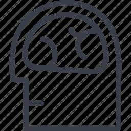 brain, jurisprudence, mind, thinking icon