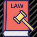 law book online, law record, lawbook, legal encyclopedia, police law book icon