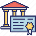 divorce certificate, final court order, final divorce decree, finalized divorce, marriage ending order icon