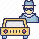 detective, man in disguise mask, secret agent, spy icon