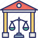 court building, courthouse, judicial branch, supreme court, supreme court building icon