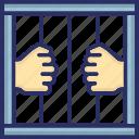 criminal, hostage, jailbird, prisoner, wanted icon