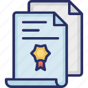 certificate, divorce certificate, divorce decree, final court order, paper icon