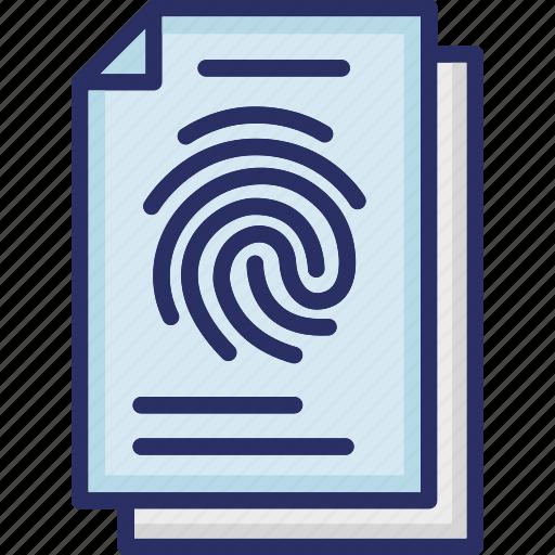 Fingerprint Identification Fingerprints Forensic Science Identification Of Person Thumb Impression Icon