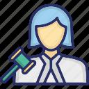 female advocate, female lawyer, female legal adviser, girl attorney, lady advocate personality icon