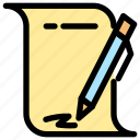 agreement, document icon