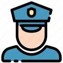 court, officer, police, security icon