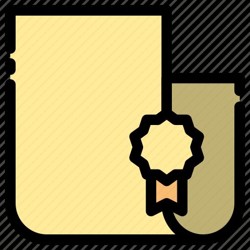 document, file, legal, license icon