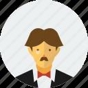 bieber, classic, classy, concert, man, moustache, party icon