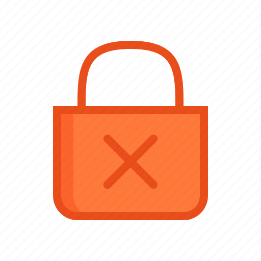 access, denied, lock, password, safe, secure, security icon