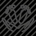 foot, child, human, kid, footprint, hand icon