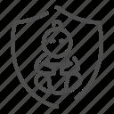 protect, care, safety, emblem, baby, child, newborn