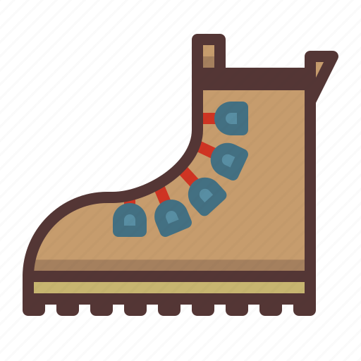 boot, footwear, hiking, hiking boot, mountaineering, shoes, travel icon